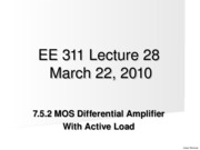 Lect28 7.5.2 Part 1  MOSDiffAmpWithAcitveLoad