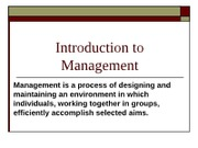 1.Introduction to Management lecture12