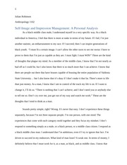 Self- Image & Impression Management (Student Written)