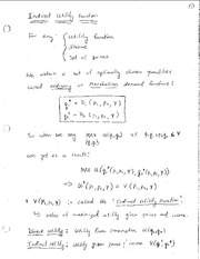 Econ 6500 Indirect Utility Function Notes