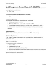 linux network nt1430 unit 3 ch Curriculum cover sheet + itt technical institute nt1430 linux networking onsite 20% discuss quizzes unit 3 reading assignment: sobell, chapter 7 pp 226-248.