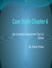 Case Study Chapter 6