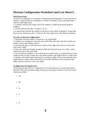 Electron Configuration Worksheet and lots more.doc - Electron ...