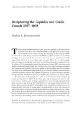 Markus K. Brunnermeier_Deciphering the liquidity and credit crunch 2007-2008_Journal of Economic Per