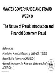 MAA763+Lecture+Notes+-+Week+9+-+Introduction+and+Financial+Statement+Fraud+-+Student+Version.pdf