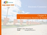 Chapter 9- Ecommerce security and fraud protection