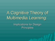 A Cognitive Theory of Multimedia