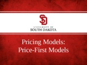 pricing decisions - price-first models