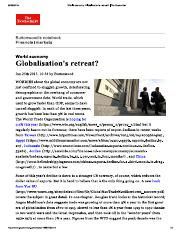 Globalisation's Retreat