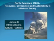 Into to Natural Hazards 8