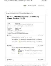 WK 10_Learning Check _Ch 11&13