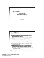 lecture notes_Firewalls