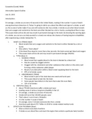 Informative Speech Preparation Outline and Works Cited
