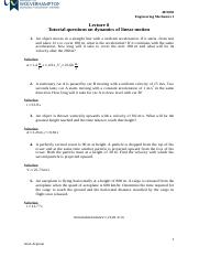 8. Lecture 8 Tutorial questions (Dynamics of linear motion).docx