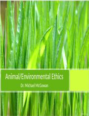 Lesson - Environmental and Animal Ethics