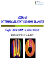 MESF5450 Chapter 1 Fundamentals and Review