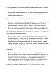 History 1301 Experiments in Governing Short Answer Questions.docx