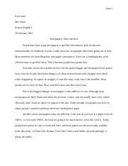 English Project Paper