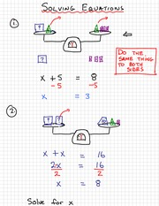 Math 9 Solving Equations Notes