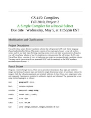 Compilers Project 2