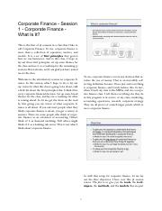 Corporate Finance - Session 1 - Corporate Finance - What Is It.pdf