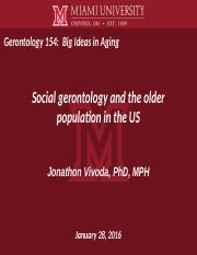 the field and study of gerontology essay The gerontology course offers you flexibility with the choice to study either full or parttime this interdisciplinary course is an ideal study pathway for health professionals including geriatricians, psychiatrists, gps, nurses, social workers, physiotherapists and occupational therapists.