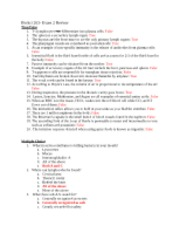 BioSci 203 morgan exam 2 with answers