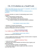 Ch 13 Notes MircoEvolution