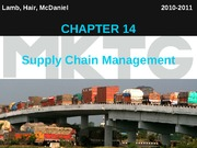 Chapter 14_Supply Chain Management