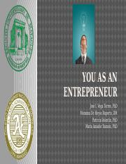 2 You as an Entrepreneur 2016