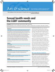 Campbell, S. (2013). Sexual health needs and the LGBT community.pdf