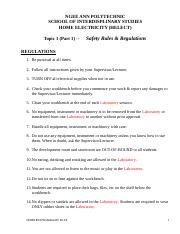Topic 1 (Part 1) -- Safety Rules & Regulations .doc