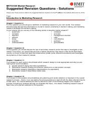 1 MKTG1045 Suggested Revision Solutions - Introduction to Marketing Research(1)