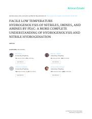 FACILE LOW TEMPERATURE HYDROGENOLYSIS OF