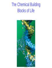 01 Chemical Building Blocks of Life