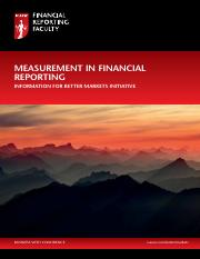 Reading 2.2 - ICAEW - Measurement in financial reporting