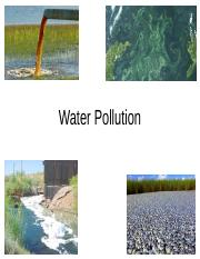 Water Pollution 2016