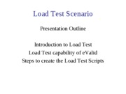 Presentation 3 - Load-Stress Test Scenario