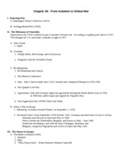 Chapter 29- Outline Germanna 2008