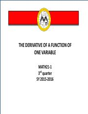 derivative+of+a+function+of+one+variable