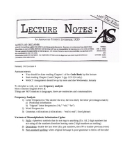 Week 2 Lecture Notes