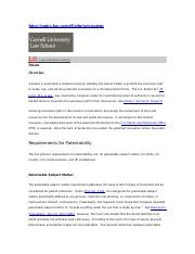 Patents, Cornell Law School, Legal Information Institute.doc