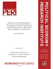 A Stimulus for Affirmative Action - The Impact of the American Recovery and Reinvestment Act on Wome