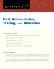 Chapter 12 Cost Accumulation, Tracing, and Allocation