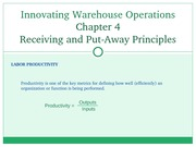Chapter 04 -Receiving and Put-Away Principles