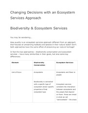 Stanford NCP-101 Changing Decisions with an Ecosystem Services Approach