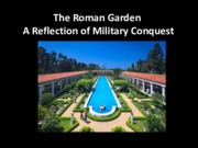Lecture The Roman Garden for Landscapes and Sustainability