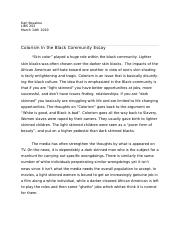 Colorism in the Black community.docx