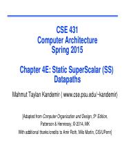 (4E) - State SuperScalar (SS) Datapaths