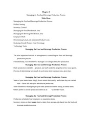 hrim 329 food and beverage process notes